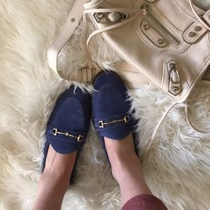 Topshop suede loafers